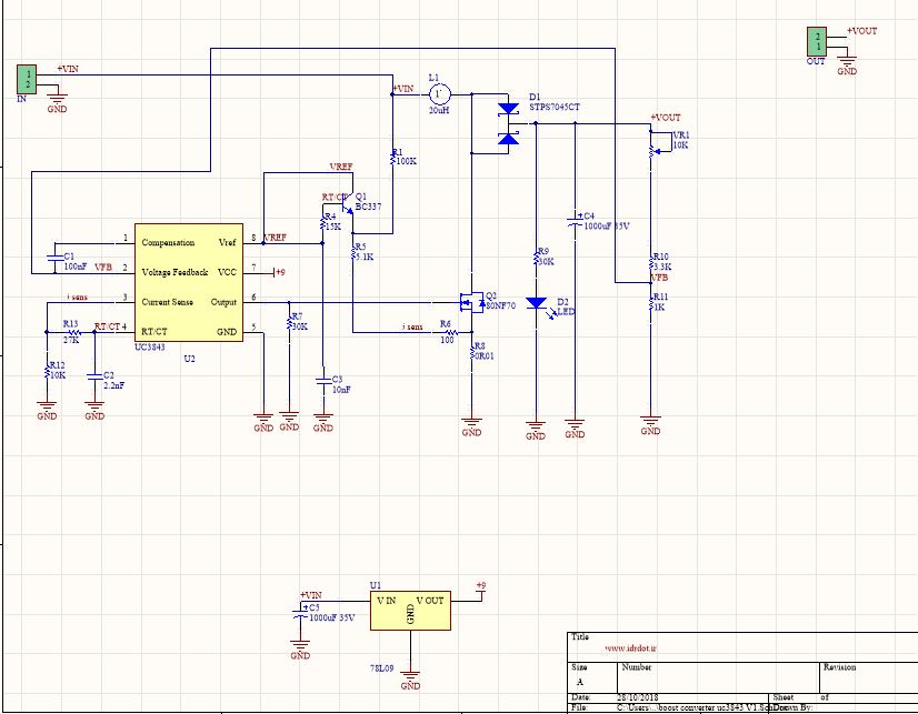 UC3843 150W DC Boost Converter · iDr.